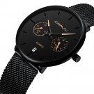 CRRJU 2162 Business Style 24hours Calendar Alloy Case Men Simple Dial Quartz Watch