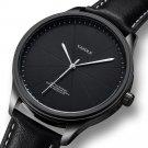 YAZOLE 503 Simple Segmentation Dial Fashion Leather Strap Waterproof Men Quartz Watch