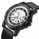 Casual Style Mechanical Appearance Quartz Watches Mesh Steel Men Wrist Watch