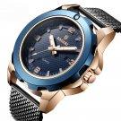 Calendar Business Men Wrist Watch Full Steel Luminous Display Quartz Watches
