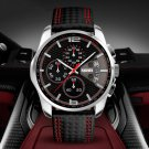 5ATM Waterproof Sport Men Watch Calendar Function Stopwatch Quartz Watch