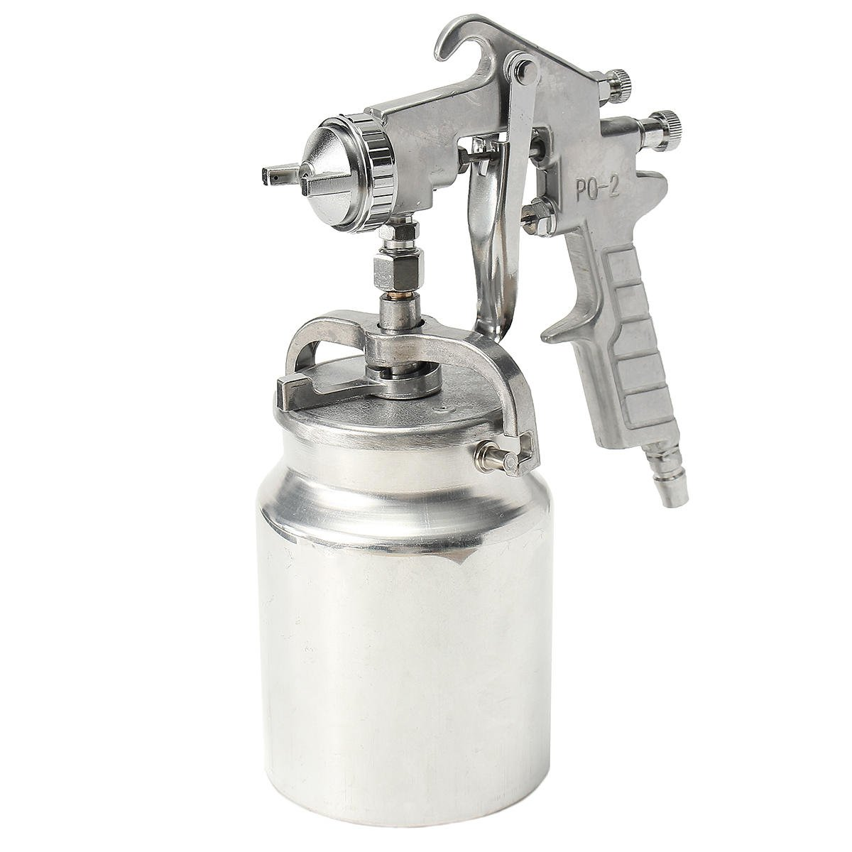 Heavy Duty Painting Spray G un Air Sprayer Paint 2.0mm Nozzle Suction Feed 1L Pot
