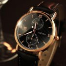 YAZOLE 355 Men Watch Luminous Fashion Classic Leather Strap Male Quartz Wrist Watch