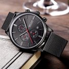 MEGIR 2011G Men Watch Luxury Ultra Slim Business Stainless Steel Strap Quartz Wrist Watch