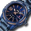 NAVIFORCE 9117 Waterproof Men Wrist Watch Calendar Full Steel Quartz Watches