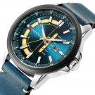 CURREN 8307 Calendar Unique Design Men Wrist Watch Genuine Leather Quartz Watch