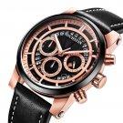 Luminous Display Men Wrist Watch Chronograph Leather Strap Quartz Watches