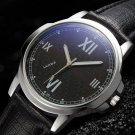 YAZOLE 389 Men Watch Luxury Roman Number Simple Dial Leather Strap Quartz Wrist Watch