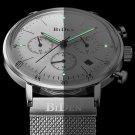 Luminous Display Chronograph Quartz Watch Full Steel Business Men Wristwatch