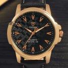 YAZOLE 346 Fashion Men Quartz Watch Casual Leather Strap Watch