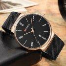 CURREN 8257 Ultra Thin Casual Design Quartz Watch Date Display Stainless Steel Men Watch
