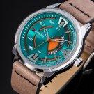 CURREN 8298 Fashionable Date Display Quartz Watch Leather Strap Sport Men Watches
