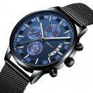 Mesh Steel Strap Men Fashion Dial Simple Style Luminous Display Quartz Watch