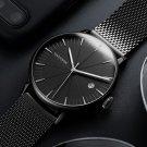 Calendar Casual Style Men Wristwatch Full Steel Luminous Display Quartz Watch