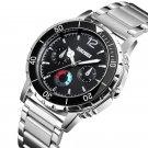 SKMEI 1482 Business Style Stainless Steel Luminous Pointer Quartz Watches Men Wrist Watch