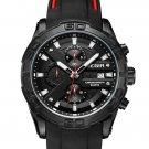MEGIR 2055 Sport Watch Men Quartz Chronograph Black Male Wrist Watch