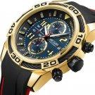 MEGIR 2045 Sport Watches Military Chronograph Silicone Strap Men Quartz Watch