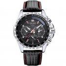 Brand Men Watch Alloy Case Leather Strap Lumious Male Sport Casual Quartz Wrist Watch