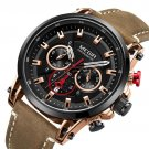 Military Style Date Chronograph Multifunction Quartz Watch Fashion Men Wrist Watch