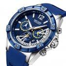 Military Design Chronograph Silicone Waterproof Quartz Watch Men Wrist Watch