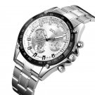 SKMEI 1366 Business Stainless Steel Waterproof Analog Quartz Watch Men Wristwatch
