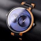 BOBO BIRD W-R10 Two Time Zones Creative Watch Wooden Women Men Quartz Watches