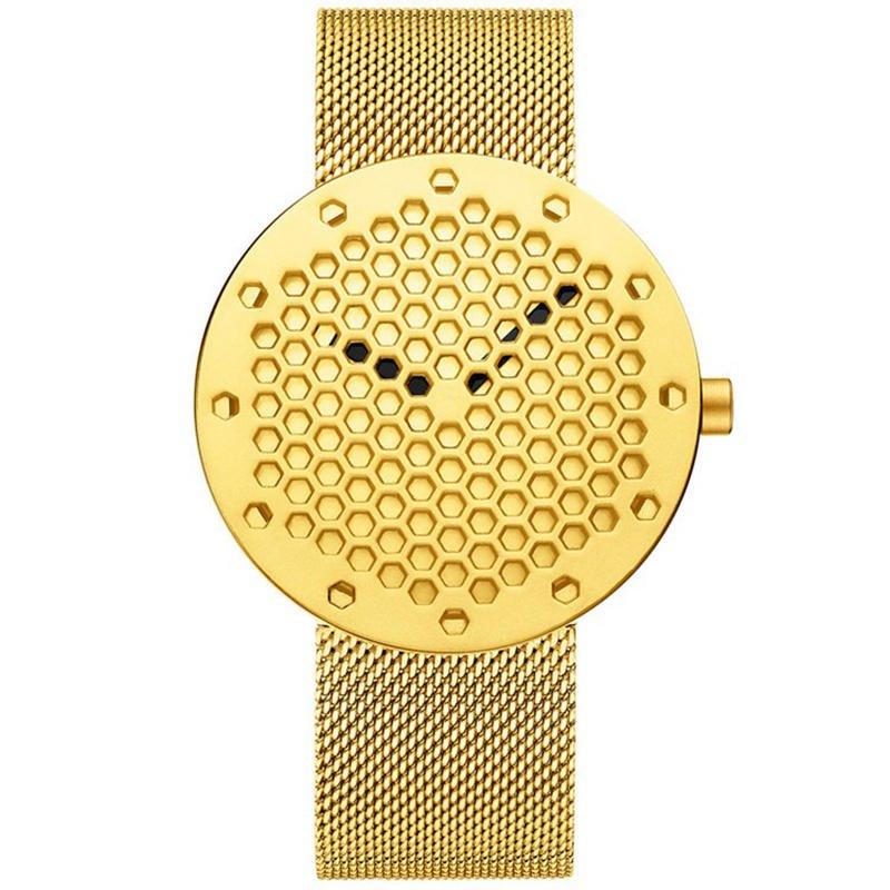 CRRJU 2143 Creative Hollow Dial Design Fashion Needle  Quartz Watch