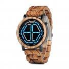 BOBO BIRD P13 Unique Design Digital Watch Night Version LED Wooden Wrist Watch