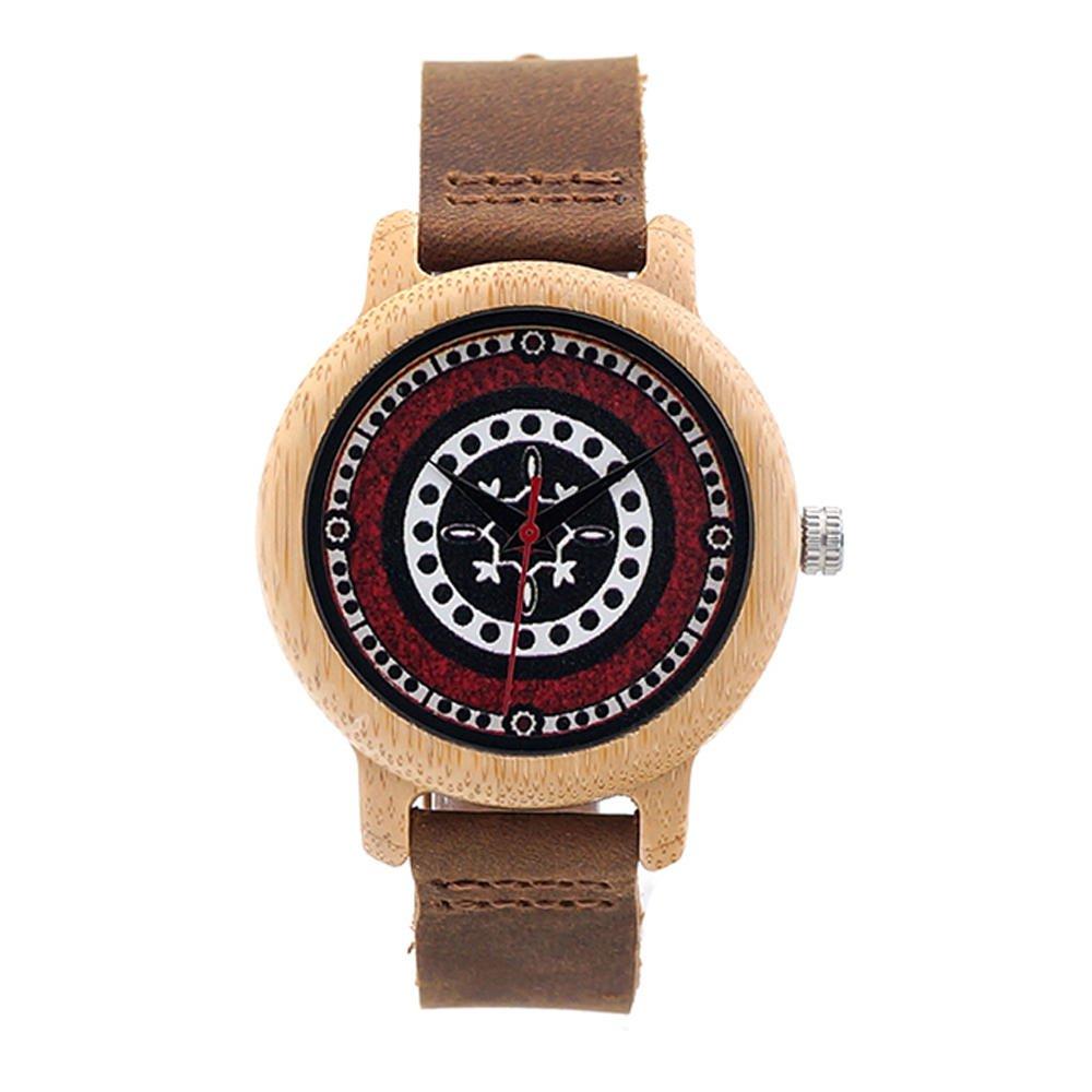 BOBO BIRD C-J19 Retro Style Wood Wrist Watches Leather Strap Ladies Watch
