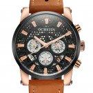 OCHSTIN GQ067B Working-dials Calendar Creative Wrist Watch Leather Strap Quartz Watches