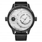 OULM HP6032 Unique Design Calendar Creative Watch Genuine Leather Strap Quartz Watches