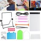 34 Pcs LED Light Pad Board Stand Holder 5D Diamond Embroidery Paintings Tools Kit