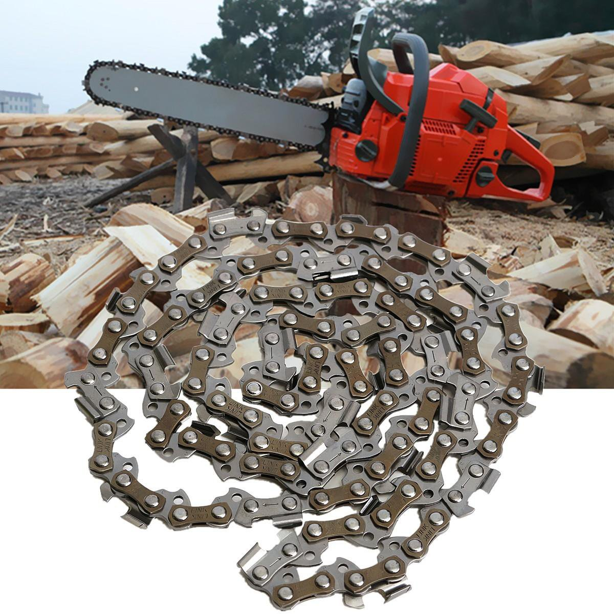 57 Drive Link 3/8 Inch Ripping Saw Chain Standard Sequence for 16 Inch Saw Chain Guide