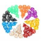 56 Pcs Polyhedral Board RPG MTG Dice Sets 8 Colors 4D 6D 8D 10D 12D 20D with 8 Pouch
