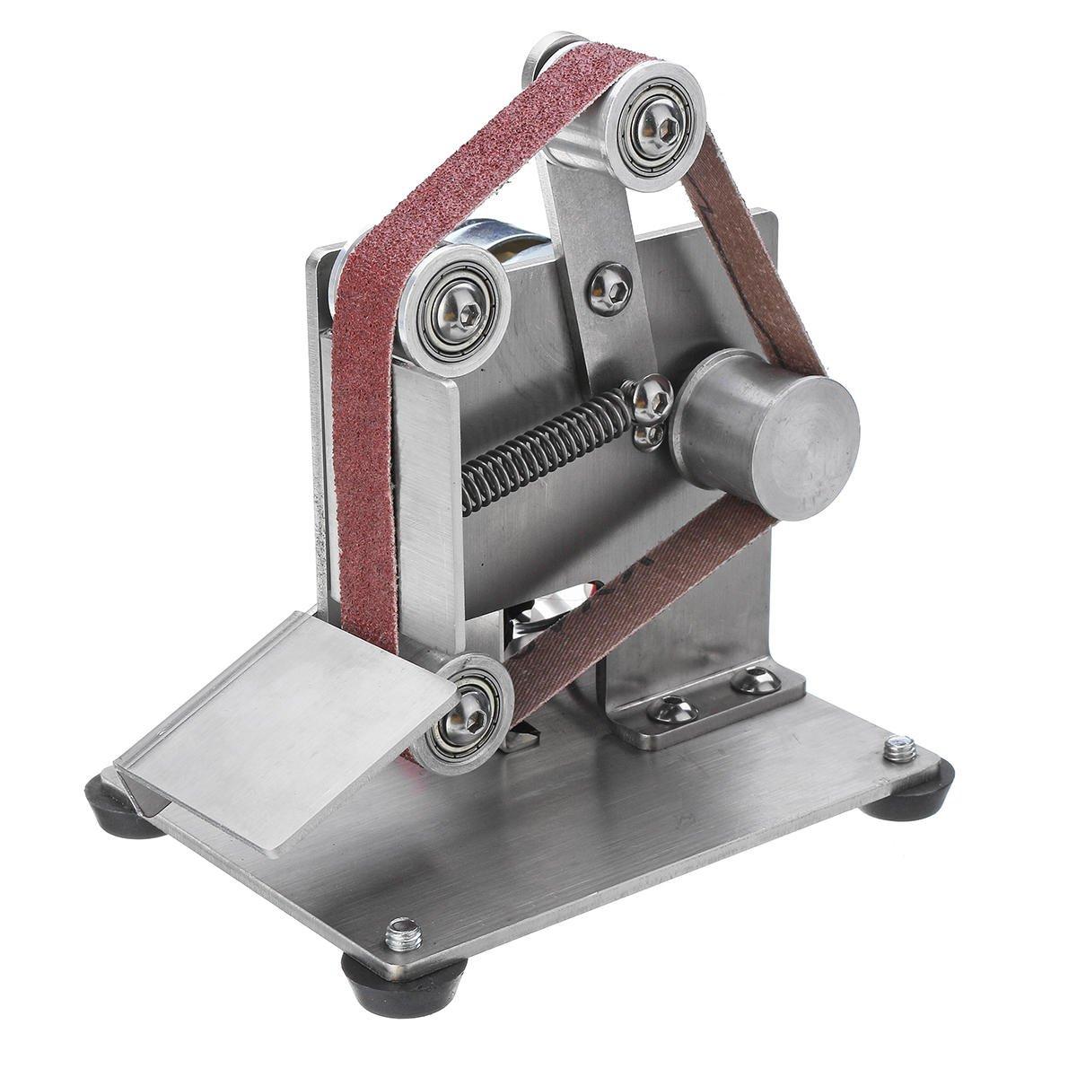 110-240V Mini Belt Sander, Sanding Grinding Sharpening Machine Edge Sharpener 330x15mm - Type 1