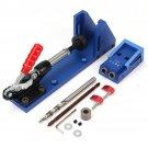 Pocket Slant Hole Jig Wood Working Carpenter Kit Toggle Clamps with Bit
