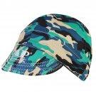Adjustable Elastic Welding Welders Hat Cap Sweat Absorption Cotton Army Camouflage Summer