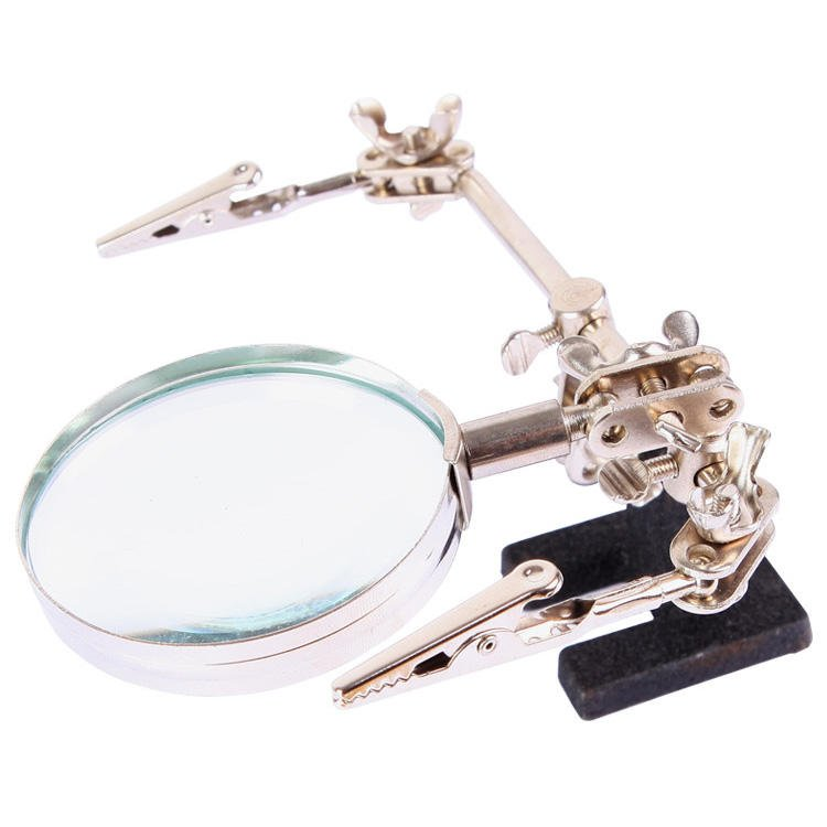 BEST BST-168Z Magnifying Glass With Clips Magnifier Welding Rework Repair Hand Tools