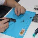 34x23cm Heat Resistant Silicone Pad Desk Mat Maintenance Platform with 20 cm Scale Ruler