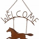 Horsing Around Welcome Sign Decor Western Horse Rustic Metal Indoor Outdoor New