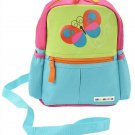 Alphabetz Butterfly Toddler Backpack with Leash, Safety Harness, for Green