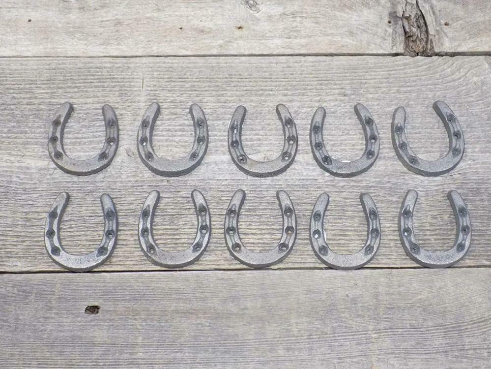 Cast Iron Horseshoes Western Small Tiny Craft Art Decor Wedding Set 10 New