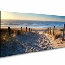 Wall Art Canvas Beach Sunset Sand Footprints Picture Home Decor Nautical New