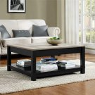 Coffee Table Black Distressed Wood Grain Rustic Furniture Living Room Decor New