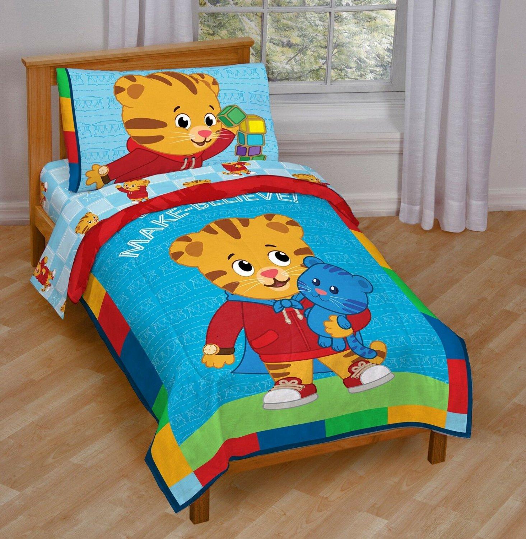 Toddler Bedding Set Kids Daniel Tiger Blue Boy Gift Soft