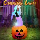 Inflatable Halloween Ghost Pumpkin Spooky Light Up Blow Up Yard Decoration New