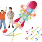 Rocket Launcher Kids Toy LED Light Up Outdoor Play Soars 100+ Ft Gift New