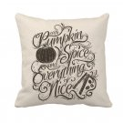 Pillow Cover Case Cushion Fall Autumn Decor Pumpkin Spice Rustic Country New