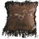 Horse Pillow Embroidered Rustic Western Cowgirl Cowboy Sofa Bed Couch Decor New