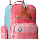 Kids Luggage Horse Western Cowgirl Girl Travel Bag Rolling Toddler Gift New